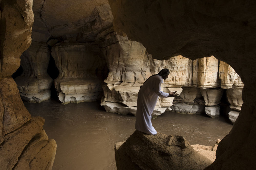 Worshipper In Sof Omar Cave, Ethiopia